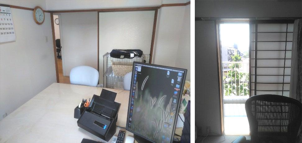 面接室は絶えず風が通るように窓を少し開けています